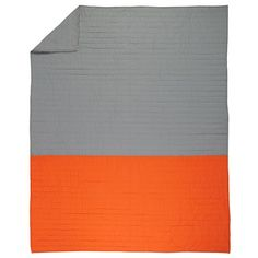 Shop Little Prints Kids Quilt (Orange).  Our Little Prints Kids Quilt (Orange) features a neutral background with a variety of small printed illustrations, perfect for your kids' room.  Shop kids bedding today.