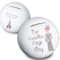 Page Boy Gift UK - Personalised Page Boy Money Box Gift - www.vivabop.co.uk