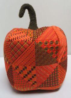 Patchwork Pumpkin Needlepoint