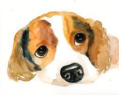 Retrato de mascotas CUSTOM Original acuarela 8X10inch por dimdi