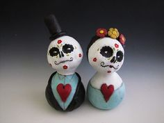 folk art doll day of the dead couple by amber leilani middleton, via Flickr