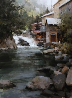 "Mark Boedges, ""Rugged Vermont"", 24"" x 18"" Oil. Best in Show, Scottsdale Salon of Fine Art."