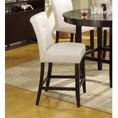 Found it at Wayfair - Modus Bossa Counter Height Parsons Stool with White Leatherette Seat (Set of 2)