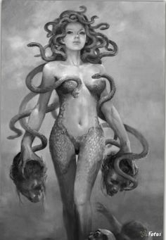 This is an amazing one as well. She matches more of my image of Medusa in age and vulnerability, though she can obviously still be fierce!