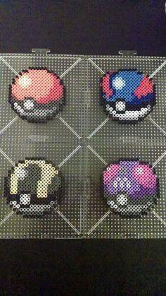 Set of Poke Ball, Master Ball, Ultra Ball, and Great Ball - Pokemon