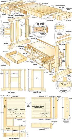 Craftsman's workbench