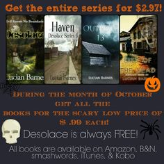 All month the Desolace series by Lucian Barnes is on sale! This series is great for you paranormal/horror readers out there!!