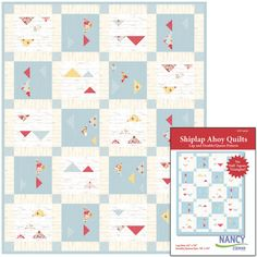 Shiplap Ahoy Quilt Pattern by Nancy Zieman Featuring Farmhouse Florals Fabrics by Riley Blake Designs Sewing With Nancy, Flying Geese Quilt, Nancy Zieman, Quilt Patterns, Quilting Ideas, How To Finish A Quilt, Contemporary Quilts, Floral Fabric, Three Dimensional