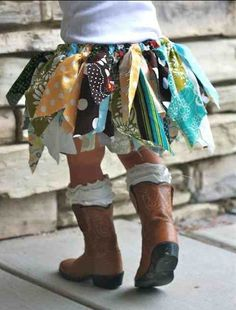 {scrap fabric tutu | must make one of these for L!}