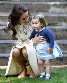 Kate shares a moment with Princess Charlotte
