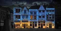 De lichtshow neemt je mee naar de fantastische wereld van Jeroen Bosch. Foto: Justine de Jong (Bosch Grand Tour).