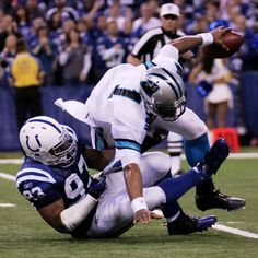 Dwight Freeney with the sack
