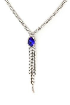 Crystal Elizabeth Necklace in Royal