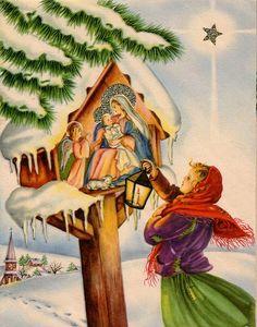 Polish Christmas card 13 by Orchard Lake,Vintage Christmas cards