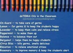 Oils in the classroom works wonders! I diffuse them every day. http://www.mydoterra.com/lisamartinez7/