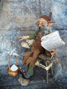 Old Elf  I know an old elf  who lives all alone.  He lives under a hill  in a cave he calls home.  He reads the elf news  just about every day,  and when he is finished  the old news flies away.