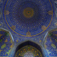 Dome of the Imam (Shah) Mosque, Iran - Islamic Architecture Persian Architecture, Beautiful Architecture, Art And Architecture, Architecture Details, Mosque Architecture, Vernacular Architecture, Ancient Architecture, Moorish, Delft