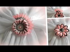 Kanzashi/ Канзаши, цветочки/ МК/ DIY/new petals/ - YouTube