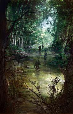 underground fantasy for your pleasure Dark Fantasy, Fantasy Rpg, Medieval Fantasy, Fantasy World, Fantasy Artwork, Fantasy Concept Art, Art Game Of Thrones, Fantasy Places, Fantasy Art