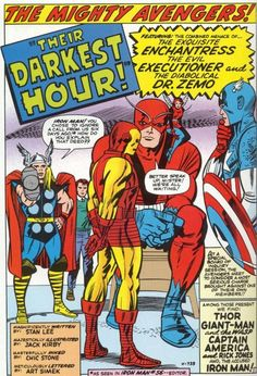 Their Darkest Hour - the Avengers by Jack Kirby