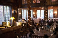 Reception at the lodge. - So cozy!