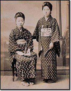 Japan Meiji Period Kasuri Cotton Kimonos