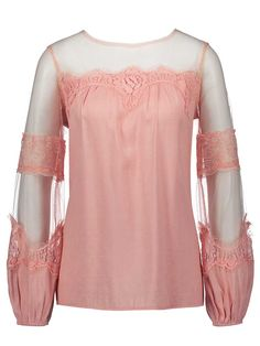 Loose See-Though Lantern Sleeve Women's T-shirt