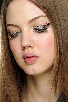 Glitter eyes at Chanel.
