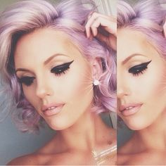 Hair colour  pastel pink