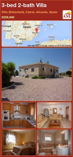 3-bed 2-bath Villa in Villa (Detached), Catral, Alicante, Spain ►€259,000 #PropertyForSaleInSpain