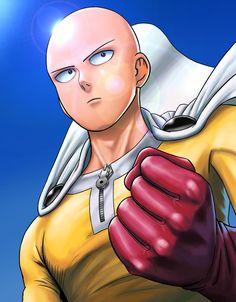 Saitama One Punch Man, Anime One Punch Man, One Punch Man 3, One Punch Man Funny, Manga Anime, Anime Demon, Otaku Anime, Caped Baldy, Bald Man