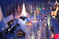 Santa Claus Village in the Arctic Circle -Rovaniemi, Lapland, Finland Christmas Town, Christmas Scenes, Christmas Holidays, Xmas, Cool Places To Visit, Places To Go, Santa Claus Village, Village Map, Christmas Destinations