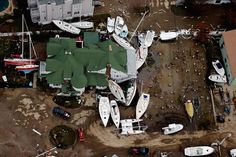 Boats are strewn among buildings amid wreckage from Superstorm Sandy in Sea Bright, N.J., on Wednesday.