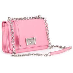 Prada Bags ($1,115) ❤ liked on Polyvore featuring bags, handbags, begonia, prada, leather flap handbag, prada purses, chain handle handbags and flap handbags