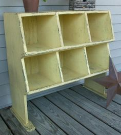 Primitive Chicken Coop Cupboard Storage Bin Pattern Plan WN139 | eBay