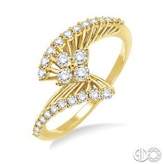 3/8 Ctw diamond fashion ring in 14k yellow gold, from J. foster jewelers.