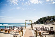 Love On The Beach In Los Cabos Wedding At Cabo Surf Hotel Planned And Designed By Elena Damy Mexico