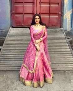 Image may contain: 1 person standing Indian Fashion Dresses, Indian Bridal Fashion, Indian Designer Outfits, Indian Outfits, Fashion Clothes, Indian Clothes, Ethnic Clothes, Ethnic Outfits, Desi Clothes