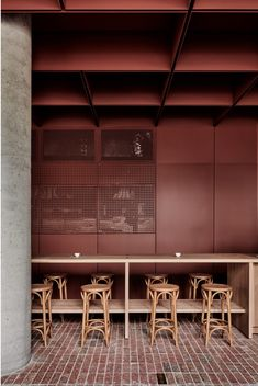 Ritz & Ghougassian: terracotta atmosphere for the interior design of the Bentwood café - - Australian Interior Design, Interior Design Awards, Commercial Interior Design, Commercial Interiors, Modern Interior Design, Contemporary Interior, Luxury Interior, Melbourne Cafe, Melbourne Australia