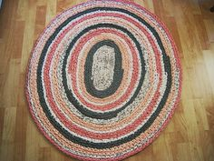 Oval Crocheted Rug by fatcatvintage on Etsy, $115.00