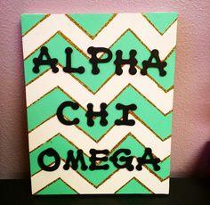 Alpha Chi Omega Chevon Craft #asuaxo #crafting #diy #alphachi #greekcrafts