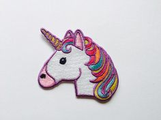 Unicorn Patch Iron On Applique Embroidered by EyeProjectStore
