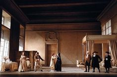 Ezio Frigerio's set for the opera Le Nozze di Figaro (The Marriage of Figaro) by Mozart, directed by Giorgio Strehler.