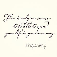Love, both, the message and the font. True #success, defined. #Life #Inspiration