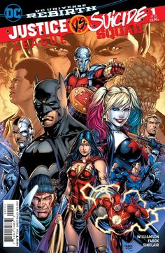 It's the event that every comics fan is talking about! Don't miss the first issue of #DCRebirth's biggest crossover, JUSTICE LEAGUE VS. SUICIDE SQUAD #1! #LeaguevSquad
