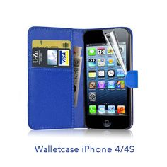 Flipcase Wallet cover for iPhone 4 (S) - Blue