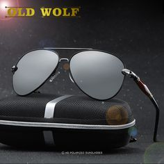 655709cd2134 OLD WOLF Aviation Sunglasses Men's Polarized Driving Unisex Double Nose  Sunglass High Quality Polarization Eyeglasses Women-in Sunglasses from  Men's ...