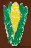 Corn Print craft from  First Palette