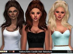 Sims Addictions: Hallow /Anto Candle Hair Retexture • Sims 4 Downloads
