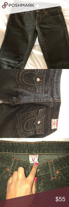 Shop Women's True Religion Green size 32 Boot Cut & Flare at a discounted price at Poshmark. True Religion, Corduroy, Flare, Shop My, Deep, Best Deals, Boots, Womens Fashion, Closet